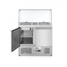 232781 Стол холодильный саладетта - 2-дверный, со стеклянной витриной Hendi