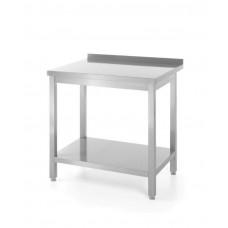 811511 Стол разделочный центральный с полкой для самостоятельной сборки 1000x600x850 мм Hendi