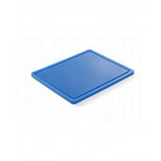 826126 Доска разделочная HACCP GN 1/2 325х265х12 мм - голубая Hendi
