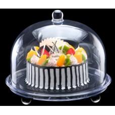 Купить Подставка для торта с крышкой акрил 34.5х34.5х21 см арт 4129