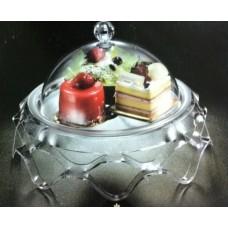 Купить Подставка для торта с крышкой акрил 39.5х39.5х24.5 см арт 4022-L