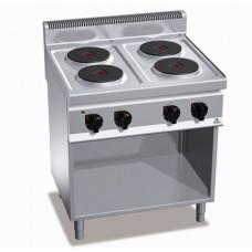 Плита электрическая профессиональная Bertos E7P4M+2P 400