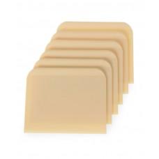 554364 Скребок для теста прямоугольный, в наборе по 6 шт., 120x93 мм Hendi