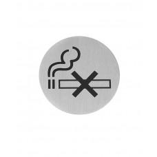 663639 Табличка информационная самоклеящаяся Не курить, Ø75 мм Hendi