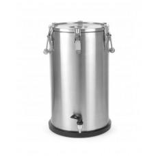 710326 Термос из нержавеющей стали для транспортировки пищи, с краном 35 л Hendi