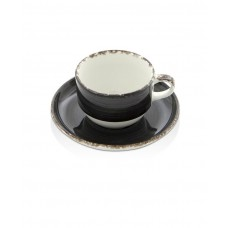 775103 Чашка с блюдцем Onyx 230 мл Fine Dine