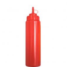 Бутылка для соусов с мерной шкалой 360 мл красная LBSD12R