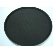 Поднос круглый (черный) 40,6*40,6*2 см 1600-CT