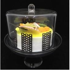Купить Подставка для торта с крышкой акрил 19х19х25 см арт 4164-S