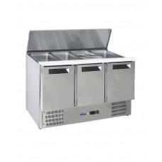 236178 Hendi (Хенди) 3-дверный стол для охлаждения салата с откидной крышкой