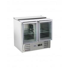 236246 Hendi (Хенди) 2-дверный стеклянный стол для охлаждения салата с откидной крышкой