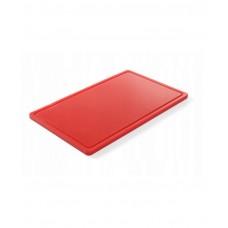 826010 Доска разделочная HACCP GN 1/1 530х325х15 мм - красная Hendi