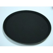 Поднос круглый (черный) 35,6*35,6*2 см 1400-CT