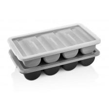 04CBBl Контейнер для столовых приборов на 4 отделения черный GastroPlast