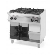 227589 Плита газовая 4-х конфорочная Kitchen Line на открытом модуле, 800x700x900 мм, 19 кВт Hendi