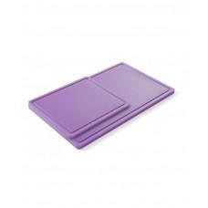 826164 Доска разделочная HACCP GN 1/2 325х265х12 мм - фиолетовая Hendi