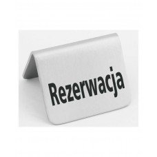 663714 Табличка информационная - настольная «RezerВтacja» Hendi