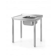 811573 Стол с ванной моечной для самостоятельной сборки 1000x600x850 мм Hendi