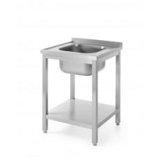 811856 Стол с ванной моечной и полкой для самостоятельной сборки 600x600x850 мм Hendi