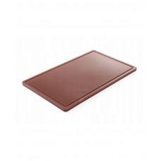 826041 Доска разделочная HACCP GN 1/1 530х325х15 мм - коричневая Hendi