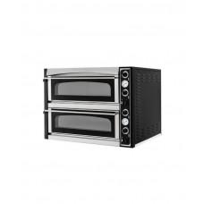 220436 Печь для пиццы Superior 66 Glass L - облицована шамотным камнем, 2x 1080x720x140 мм Hendi