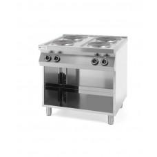 226223 Плита электрическая 4-х конфорочная Kitchen Line на открытом модуле Hendi