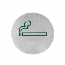 663783 Табличка информационная самоклеящаяся Место для курения, Ø75 мм Hendi