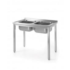 811580 Стол с двумя моечными ваннами для самостоятельной сборки 1000x600x850 мм Hendi