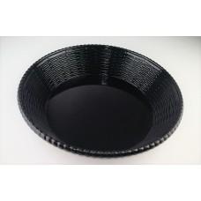 Блюдо круглое из меламина 29,7х7,2 см, черное CJ688-11.7 B