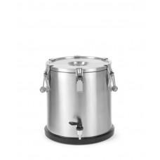 710227 Термос из нержавеющей стали для транспортировки пищи, с краном 20 л Hendi