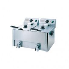 Фритюрница настольная профессиональная электрическая двойная HDF-8+8 Rauder