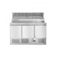 232897 Стол холодильный саладетта - 3-дверный, с надставкой Hendi
