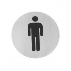 663608 Табличка информационная самоклеящаяся Для мужчин, Ø75 мм Hendi