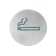 663820 Табличка информационная самоклеящаяся Место для курения, Ø160 мм Hendi