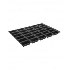 676226 Форма силиконовая Mini-cake, 100x52x31 мм, 30 ячеек Hendi