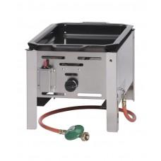 154601 Сковорода газовая Bake Master MINI GN1/1 - настольная, 5,8кВт, 340x540x300 мм Hendi