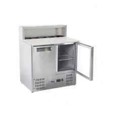 Купить 236208 Hendi (Хенди) 2-дверный охлаждаемый стол с надставкой и гранитной столешницей