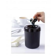 421574 Контейнер для мусора/столовых приборов, настольный, ø130x160 черный Hendi