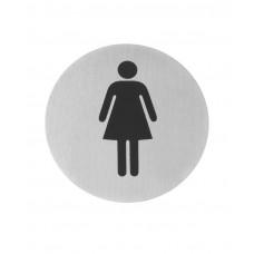 663615 Табличка информационная самоклеящаяся Для женщин, Ø75 мм Hendi